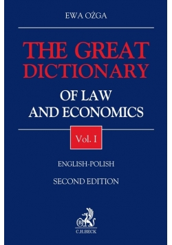 The Great Dictionary of Law and Economics Vol I English - Polish