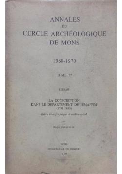 Annales du cercle archéologique de mons, tome 67