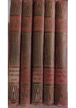 Dzieła Lwa Tołstoja zestaw 5 książek