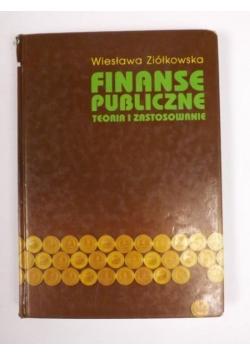 Finanse publiczne. Teoria i zastosowanie