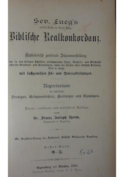 Biblische Realkonkordanz,1894r.
