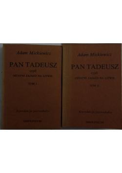 Pan Tadeusz, czyli ostatni zjazd na Litwie Tom I/ Tom II, 1834 r.