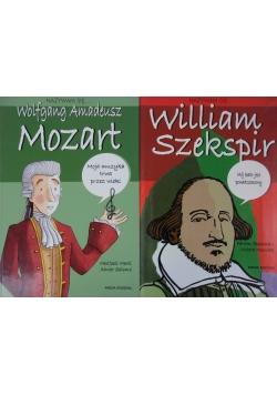 Nazywam się William Szekspir Nazywam się ,  Wolfgang Amadeusz Mozart , 2 książki
