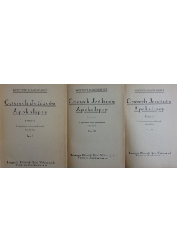 Czterech jeźdźców apokalipsy, tom I - III,  ok. 1930 r.