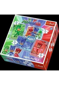 Puzzle 4w1 Kotboy i drużyna TREFL