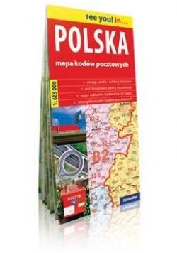 Polska. Mapa kodów pocztowych