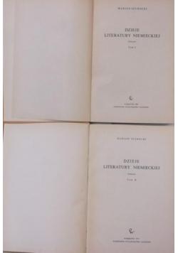 Dzieje literatury niemieckiej, Tom I-II