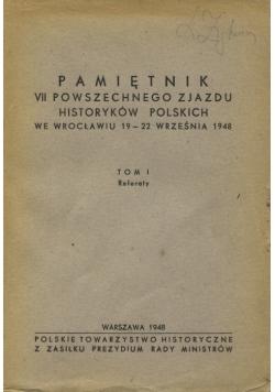 Pamiętnik VII powszechnego zjazdu historyków polskich we Wrocławiu 19-22 września 1948, 1948 r.