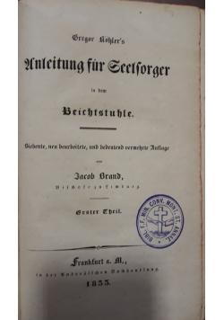 Unleitung fur seelforger, 1833 r.