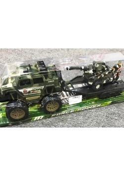 Auto wojskowe z lawetą + karabin