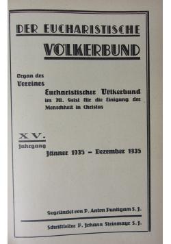 Der Eucharistische Volkerbund 1935 r.