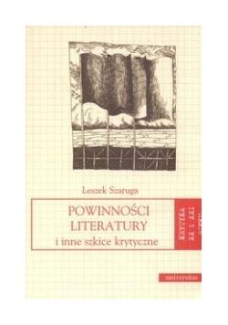 Powinności literatury i inne szkice krytyczne