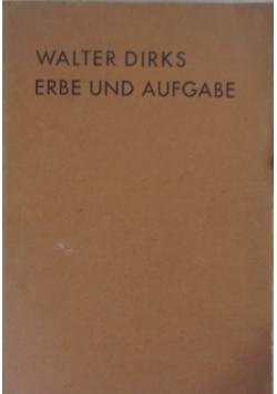 Erbe und Aufgabe Gesammelte Kulturpolitische Aufsatze, 1931 r.