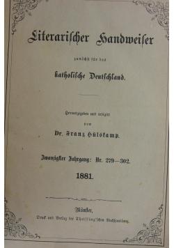 Literarischer Handweiser 1881r.