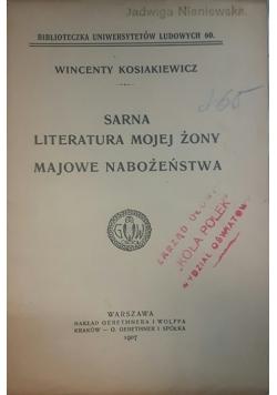 Sarna literatura mojej żony Majowie nabożeństwa, 1907 r.