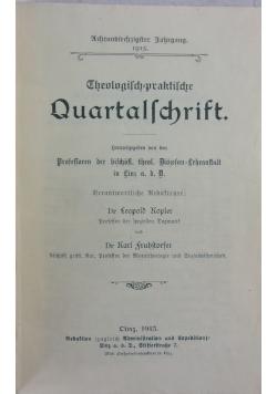 Theologisch praktische Quartalschrift , 1915 r.