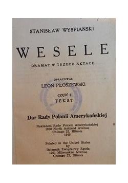 Wesele, 1945r.