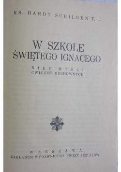 W szkole świętego Ignacego, 1939 r.