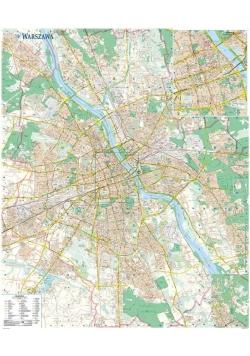 Warszawa. Mapa ścienna 1:26 000