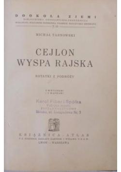 Cejlon Wyspa Rajska, 1935 r.