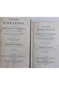 L' Homme D'oraison, 1830r. zestaw 2 książek