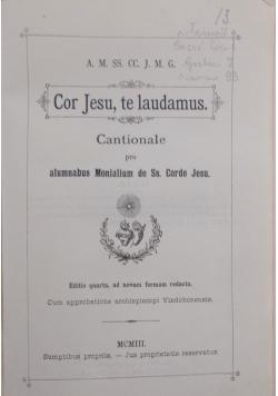 Cor Jesu , te laudamus , 1903 r.