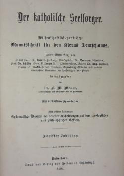 Der katholische Seelsorger, 1900r.