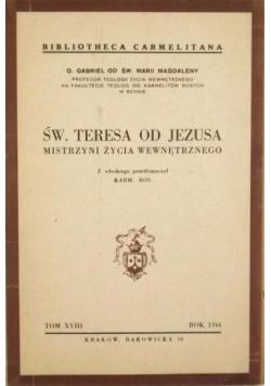 Św. Teresa od Jezusa, Tom XVIII, 1944 r.