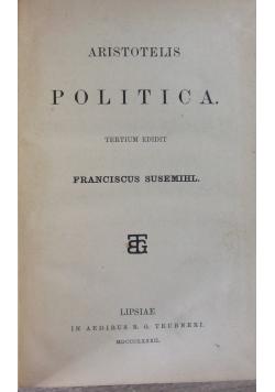 Aristotelis Politica, 1882 r.