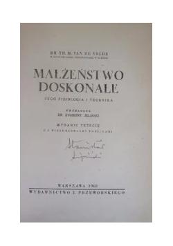 Małżeństwo doskonałe ,1939r.