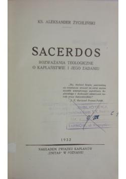 Sacerdos,1932r.