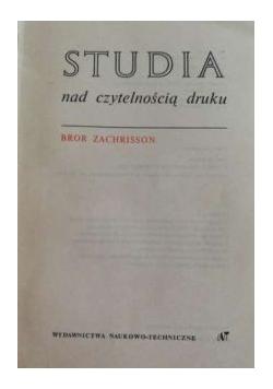 Studia nad czytelnością druku