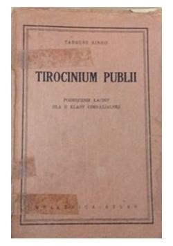 Tirocinium publii, 1935 r.