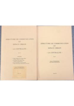 Structure de Communication et Espace Urbain, tom 1-2