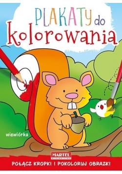 Plakaty do kolorowania - Wiewiórka