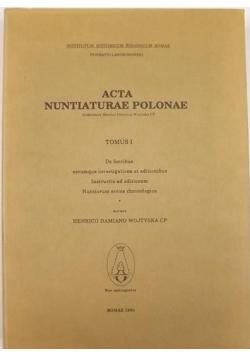 Acta Nuntiaturae Polonae. T. 1