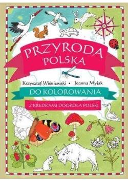 Przyroda polska do kolorowania - z kredkami