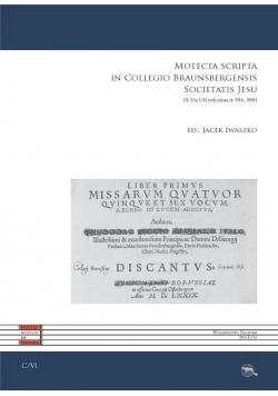 Motecta scripta in Collegio Baunsbergensis...