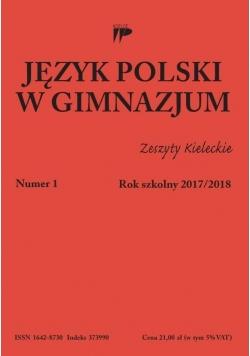 Język polski w gimnazjum nr 1 2017/2018