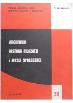 Archiwum historii filozofii i myśli społecznej