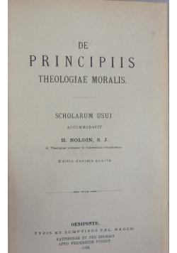 De Principiis Theologiae Moralis, 1922r.