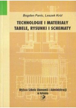Technologie i materiały. Tabele, rysunki i schematy