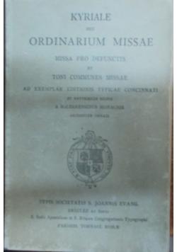 Ordinarium missae, 1920 r.