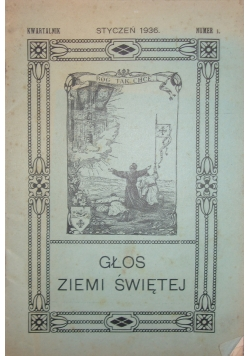 Głos ziemi świetej,  mr.1,   1936 r.