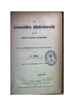 Die kanonischen  Ehehindernissee , 1883 r.
