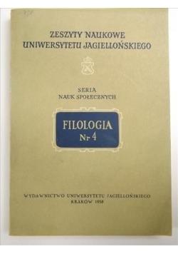Filologia Nr 4, Seria Nauk Społecznych
