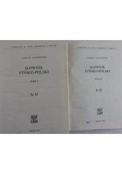 Słownik fińsko-polski, Tom I-II