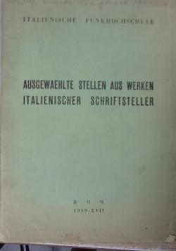 Passi scelti D'autori italiani 1939 r.