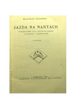Jazda na nartach, podręcznik dla instruktorów , 1930 r.