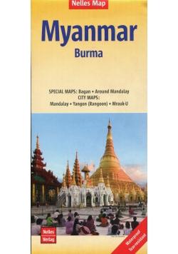 Myanmar Burma Mapa 1:1 500 000
